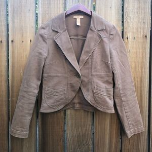 Forever 21 tan cropped blazer jacket S